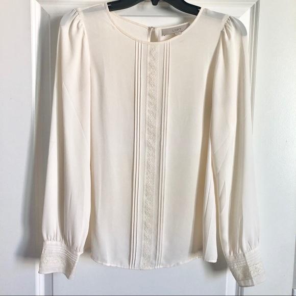 LOFT Tops - Beautiful silky linen color blouse, Loft size XS